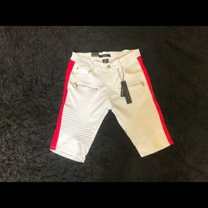 Other - Men's White and Red SideTape Shorts